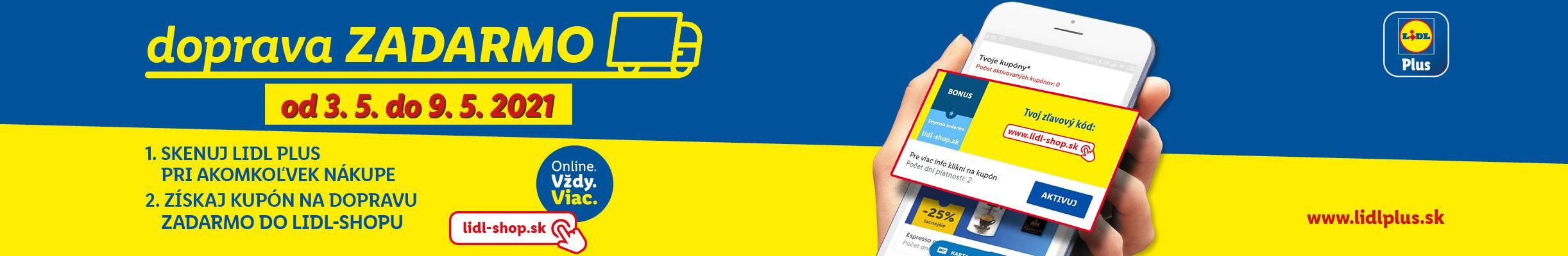 Skenuj Lidl Plus a získaj Dopravu zadarmo v Lidl-Shope